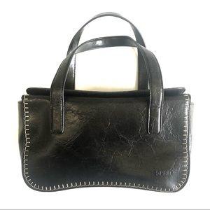 Esprit Black Rectangle Bag with stitching detail internal Pocket